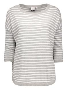 objmorgan 3/4 knit pullover 23023560 object trui light grey melange