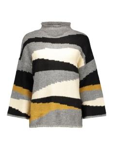 vitotem knit top 14035829 vila trui black/black with