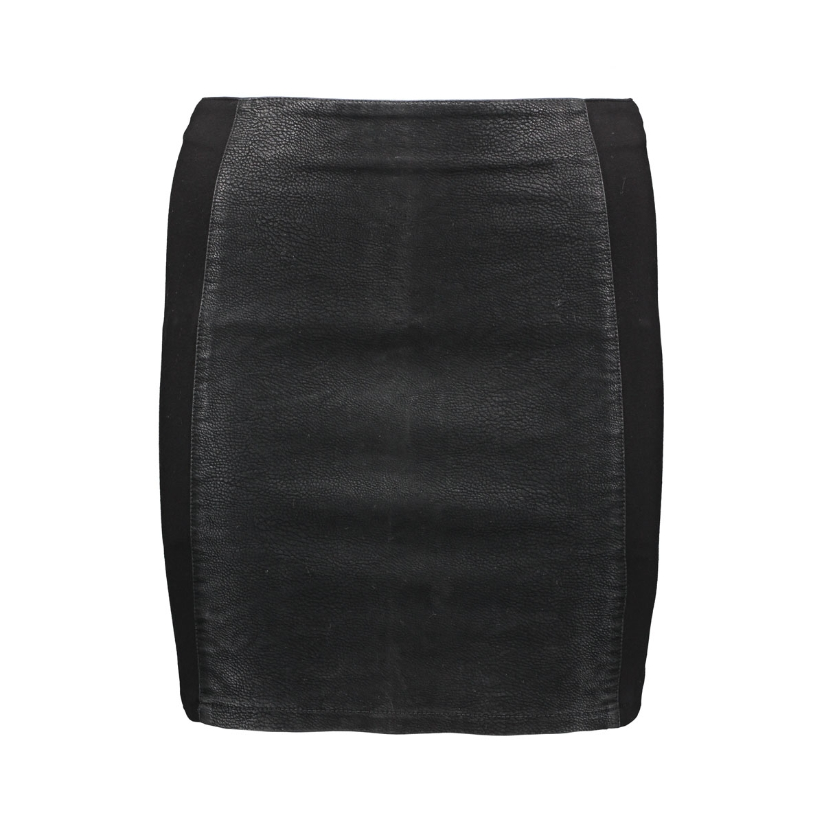 onleffort mix faux leather skirt ot 15121600 only rok black