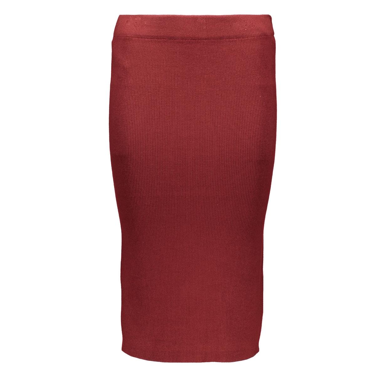 vmglory babette rib skirt 10159355 vero moda rok fired brick
