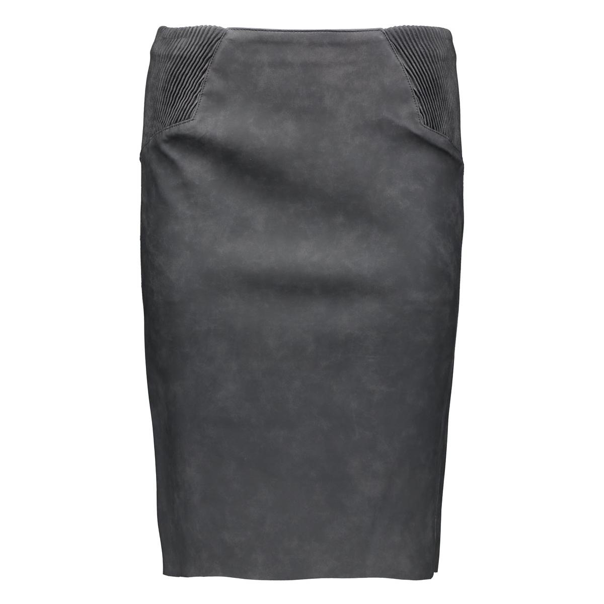 vmtwirley pu hw knee skirt dnm 10159537 vero moda rok asphalt