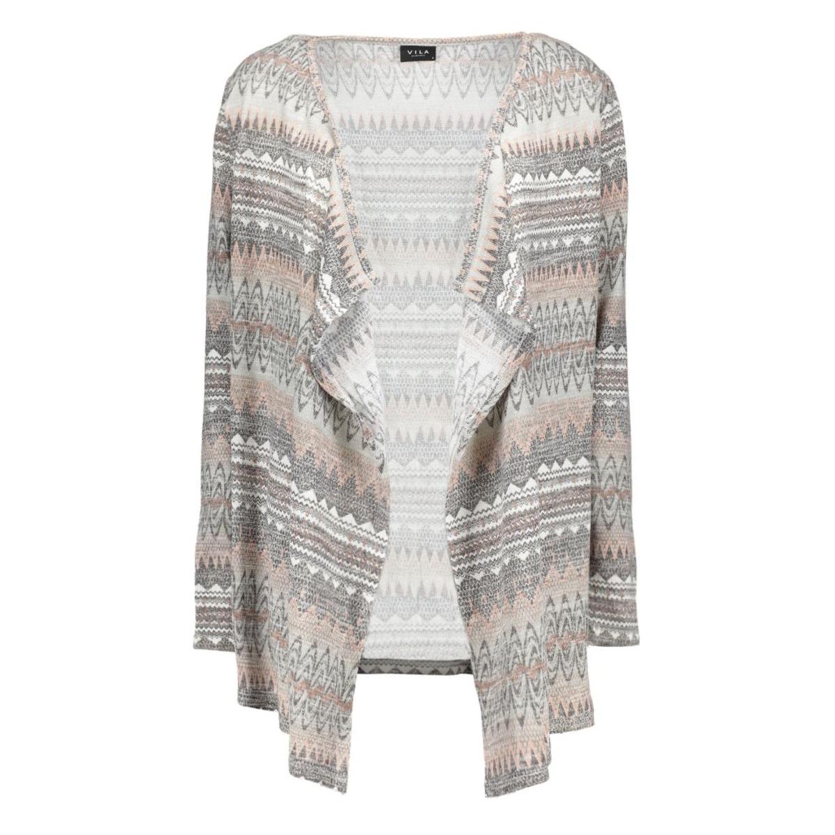 vitika l/s knit cardigan 14039350 vila vest rose dust