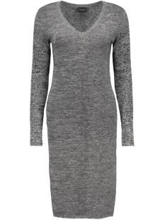 viandrea  l/s knit dress 14037958 vila jurk black/black with