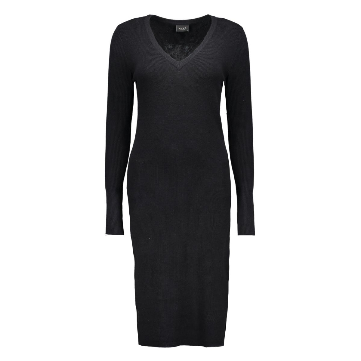 viandrea  l/s knit dress 14037958 vila jurk black