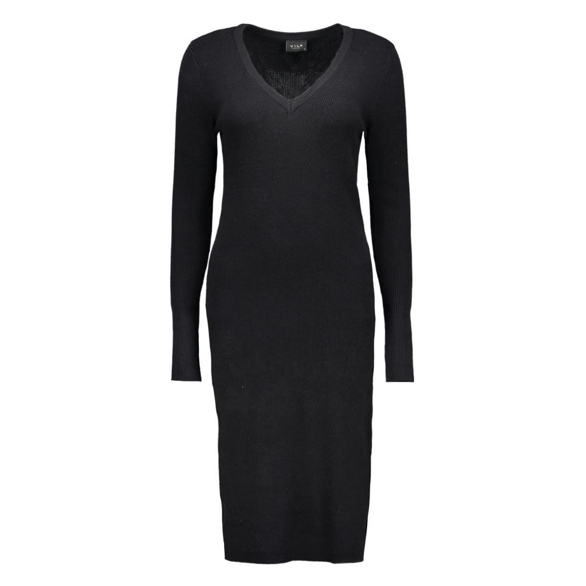 viandrea  l/s knit dress 14037958 vila jurk black
