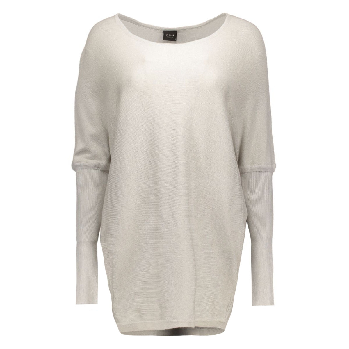 virina volume knit top 14036198 vila trui light grey melange