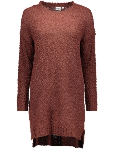 OBJSOFIAL L/S KNIT DRESS 23023166 Bitter Chocolate
