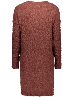 objsofial l/s knit dress 23023166 object jurk bitter chocolate
