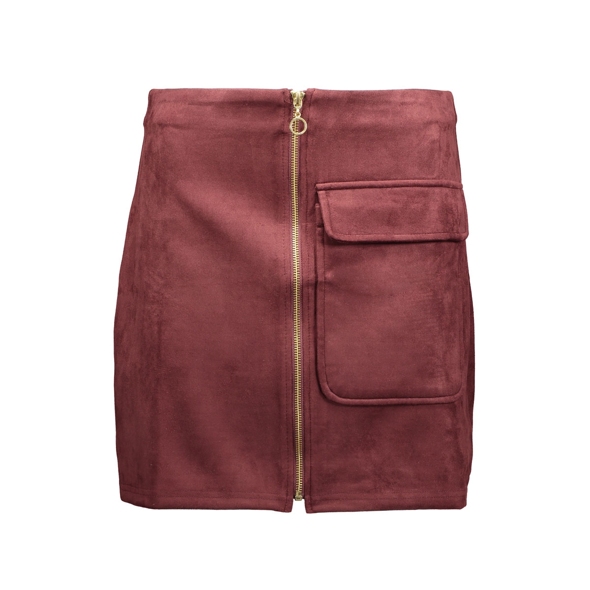 vmisla hw fake suede mini skirt 10161870 vero moda rok decadent chocolate
