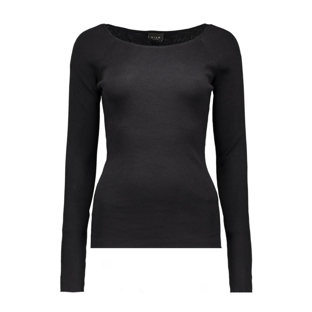 vihelena l/s knit top 14036775 vila trui black
