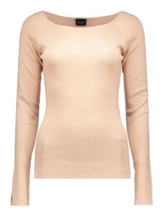 vihelena l/s knit top 14036775 vila trui rose dust