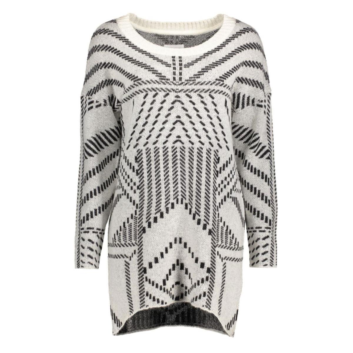 objfeliza anne line l/s knit tunic 23022795 object trui gardenia