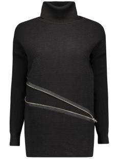 objnadine l/s zip pullover 87 div 23023822 object trui black