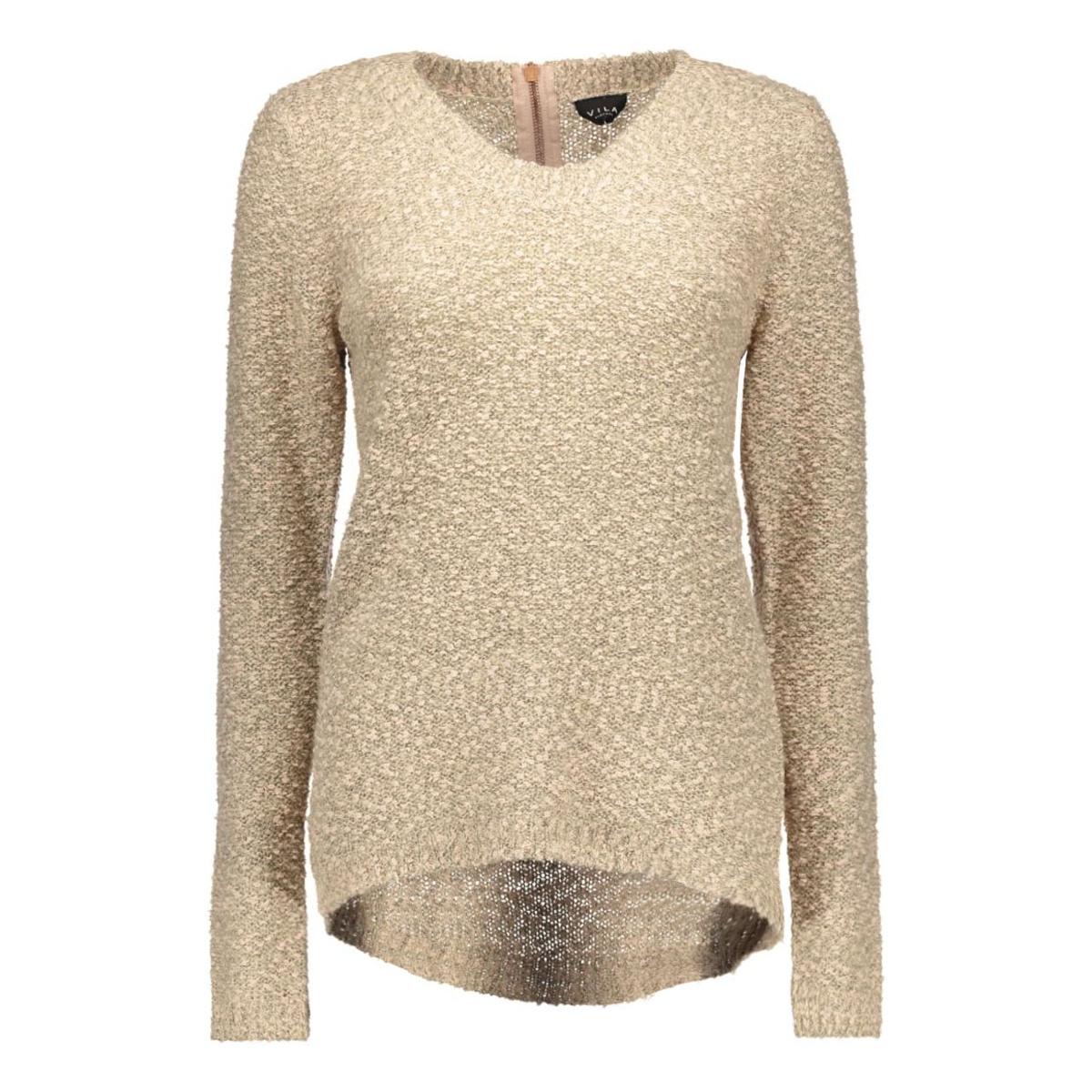 vilika l/s knit top tb 14035633 vila trui sandshell