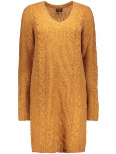 Vila Jurk VIRIVA L/S CABLE KNIT DRESS 14037720 roasted pecan