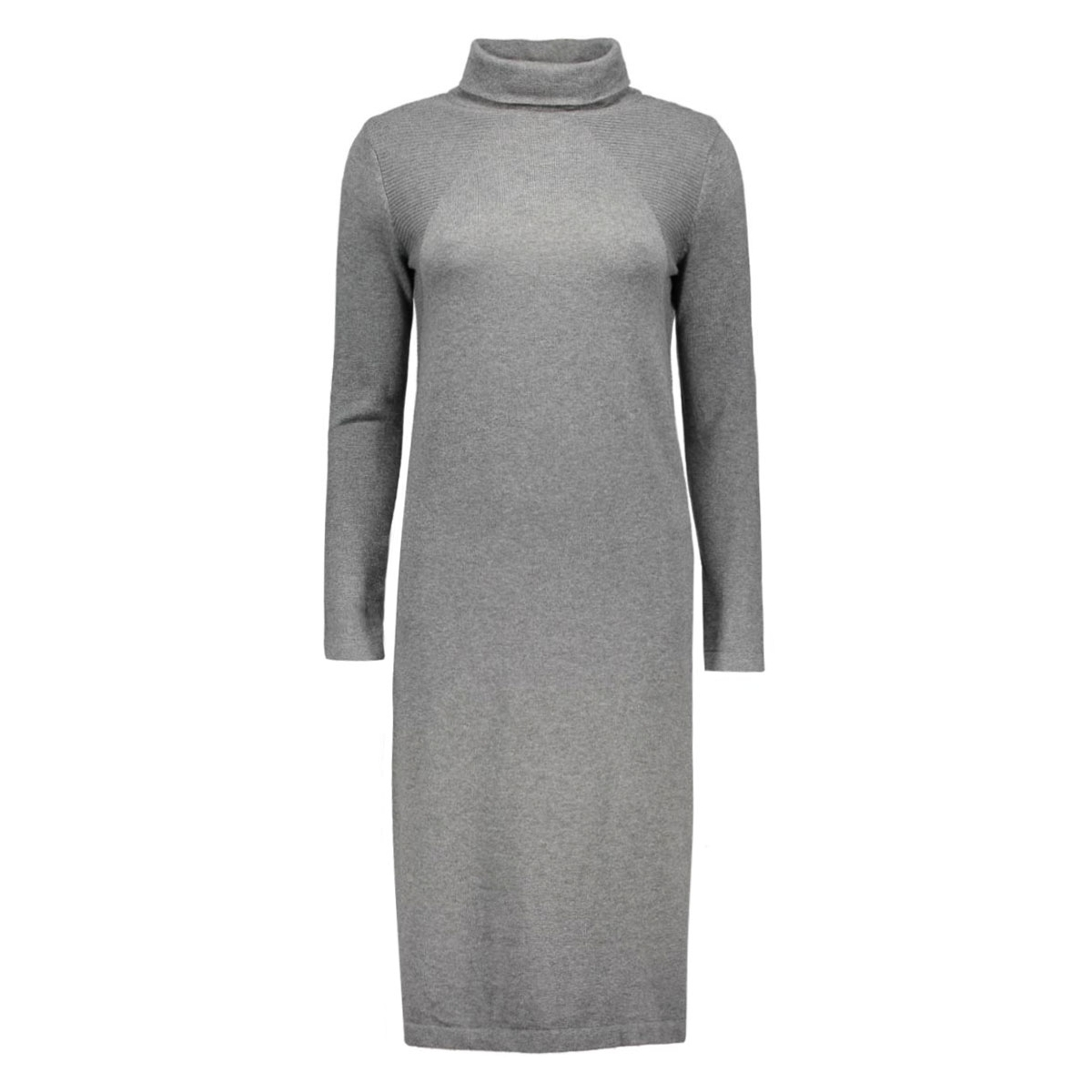 objvita morgan rollneck knit dress 23022730 object jurk medium grey melange