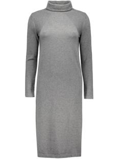 objvita morgan rollneck knit dress 23022730 object jurk medium grey melange