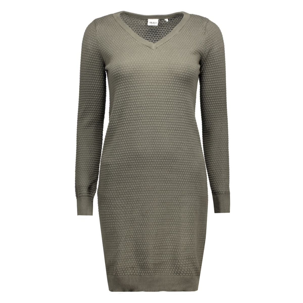 objbernice l/s knit dress 23022671 object jurk beluga