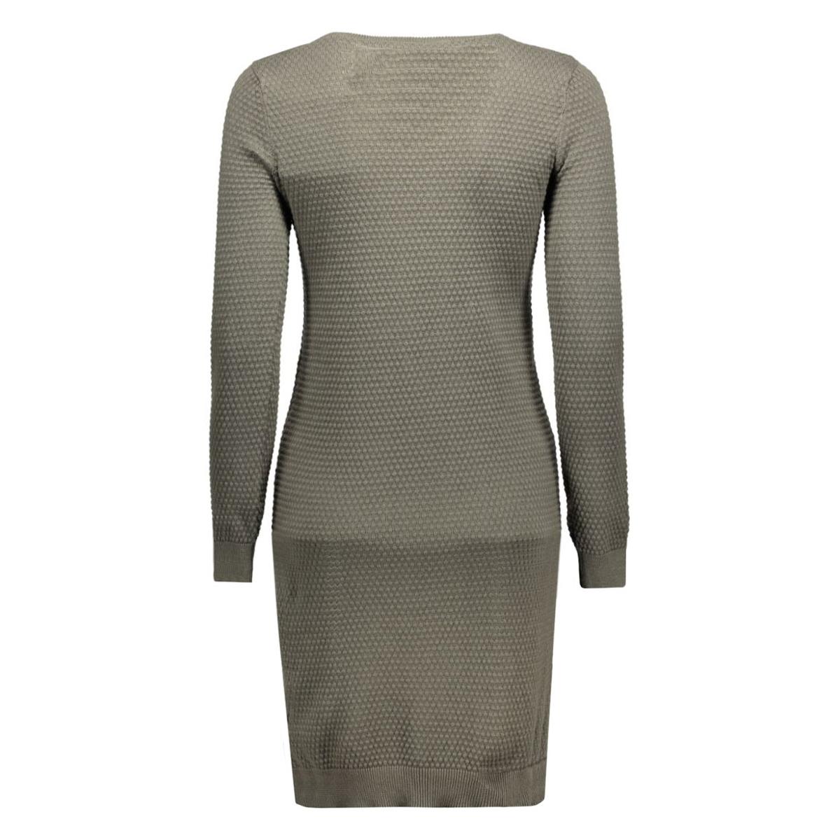 objbernice l/s knit dress 23022671 object jurk beluga