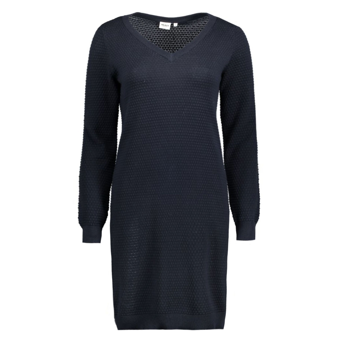 objbernice l/s knit dress 86 23022671 object jurk sky captain