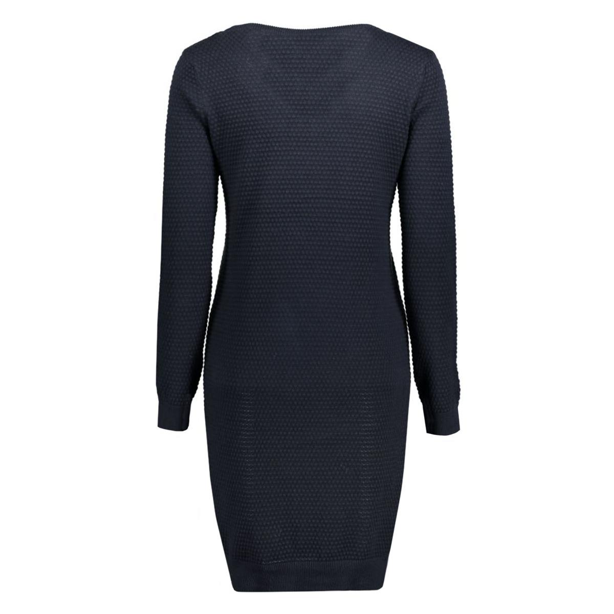 objbernice l/s knit dress 86 23022671 object jurk sky captain
