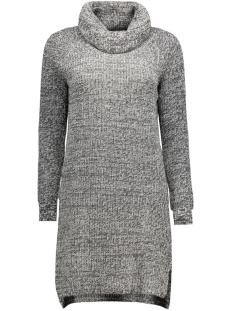 objbellis l/s short knit dress 23023184 object jurk black