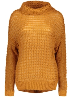 vibrise l/s knit top 14036856 vila trui roasted pecan