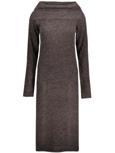 VIRIB L/S KNIT DRESS 14036833 Plum/Chocolate