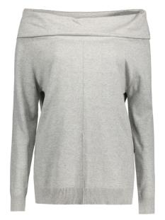 objnavel l/s knit pullover 23023492 object trui light grey melange