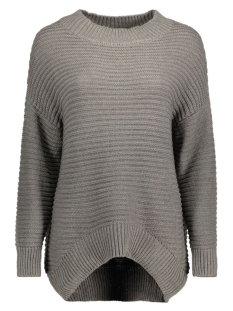 OBJMARIES L/S KNIT PULLOVER .I 87 23023170 Medium Grey Melange