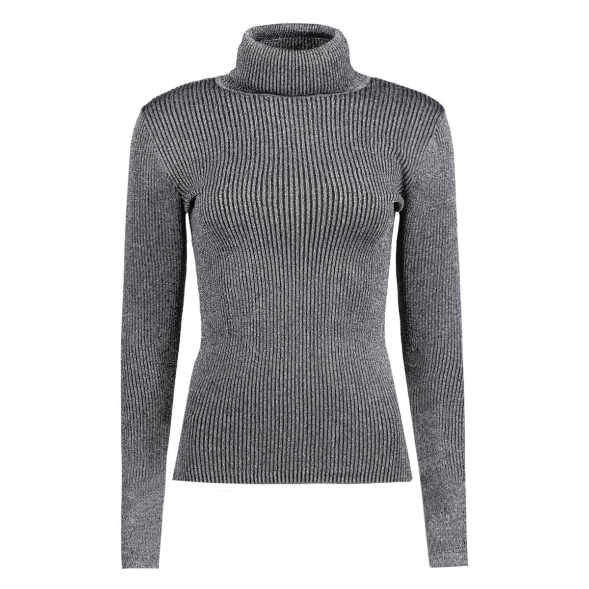 vivenna l/s rollneck knit top 14037554 vila trui black/black with