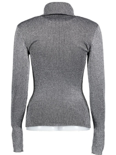 vivenna l/s rollneck knit top 14037554 vila trui black/black with