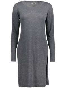OBJANNA LIGHT SLIT KNIT DRESS 23024000 Dark Grey melange