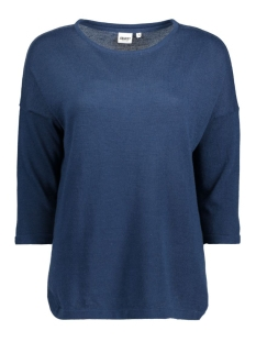 Object Trui OBJANNA LIGHT 3/4 KNIT PULLOVER 23024066 Insignia Blue