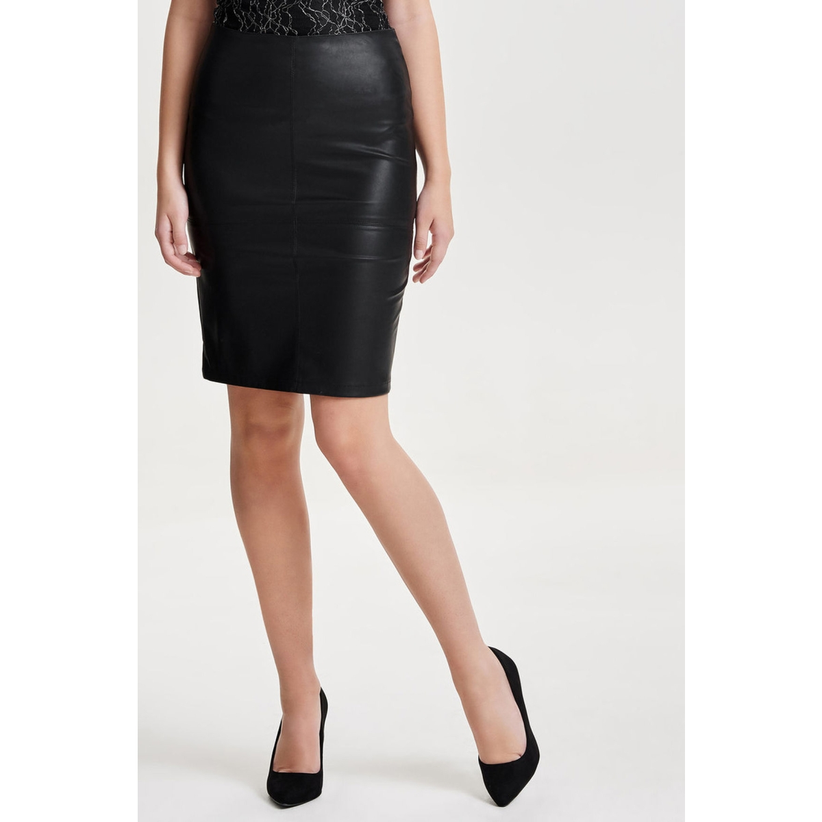 onlticket faux leather skirt otw no 15129803 only rok black