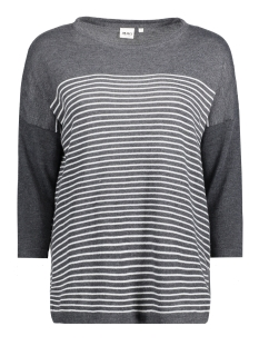 OBJANNA LIGHT 3/4 KNIT PULLOVER 23024066 Dark Grey Melange