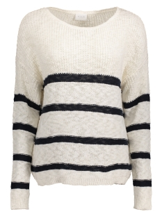 VIRAWNA L/S STRIPE KNIT TOP 14038521 Cloud dancer