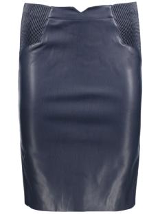 Vero Moda Rok VMSMOCK BUTTER HW KNEE PU SKIRT 10140236 Navy Blazer