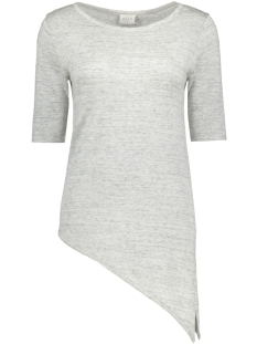 Vila T-shirt VILESLY ASSYMETRIC 1/2 SLEEVE KNIT 14040130 Super light grey melange