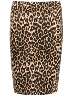 VITINNY PRINTET SKIRT 14042575 Oak Brown/Animal