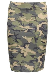 VITINNY PRINTET SKIRT 14042575 Ivy Green/Camouflage