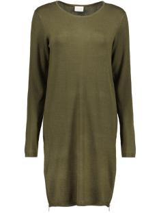 Vila Jurk VILETTER L/S KNIT DRESS 14042568 Ive Green/ zippers