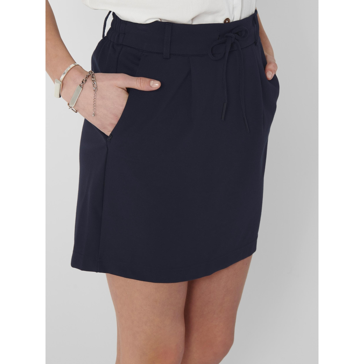 onlpoptrash easy skirt pnt noos 15132895 only rok night sky