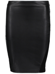 Only Rok onlMARCI FAUX LEATHER MIX SKIRT RP1 15140685 Black