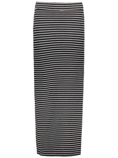 VIHONESTY NEW MAXI SLIT SKIRT-NOOS 14032809 Black/ Snow White