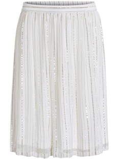 Vila Rok VILOVE MIDI SKIRT 14042556 Cloud Dancer/ Gold