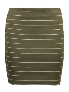 Vila Rok VITINNY SKIRT-NOOS 14039481 Ivy Green/ Snow White