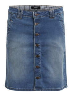 Object Rok OBJLOU SHORT DENIM SKIRT 85 RPT 23022444 Medium Blue Denim