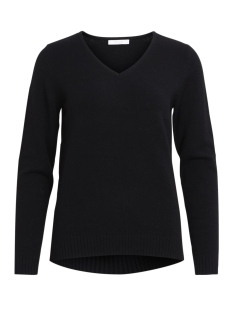 VIRIL L/S V-NECK KNIT TOP-NOOS 14042769 Black