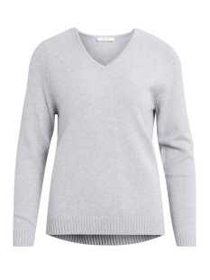 Vila Trui VIRIL L/S V-NECK KNIT TOP-NOOS 14042769 Light Grey Melange